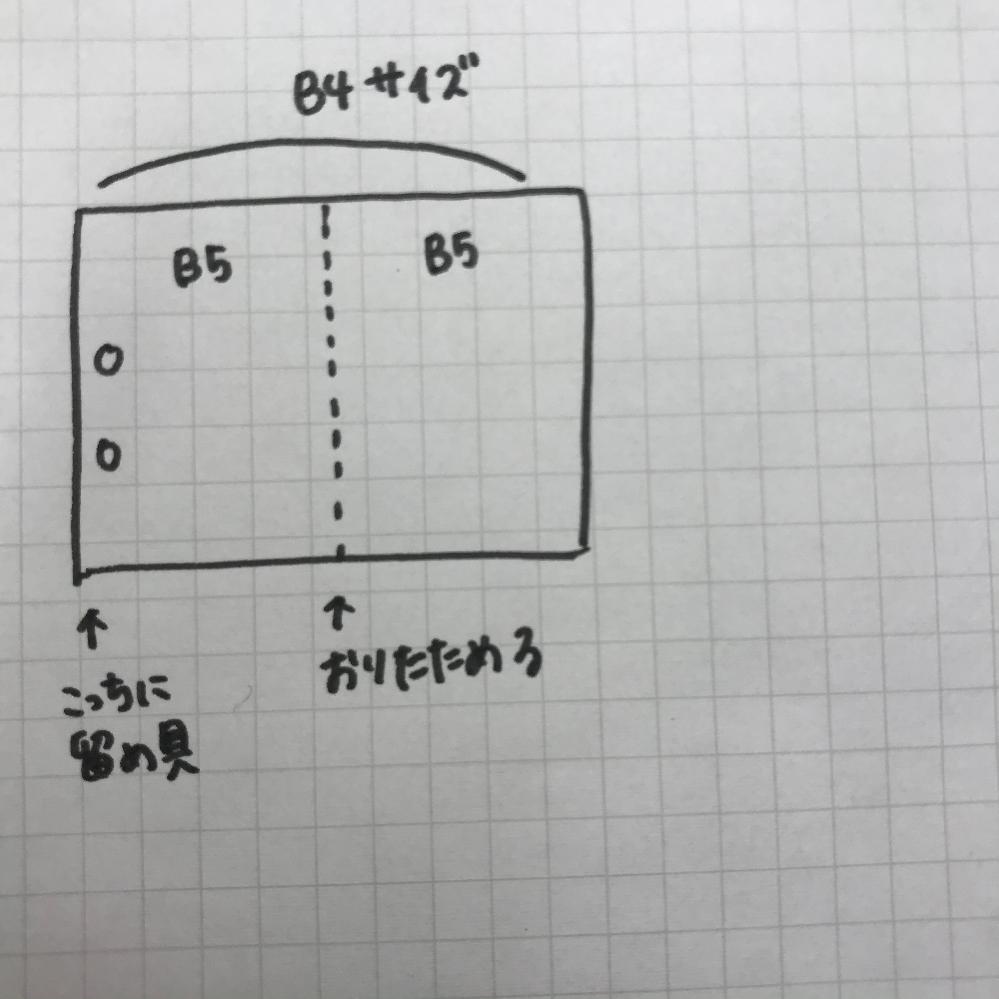 このような感じのB4のプリントをに挟むことができるリングファイルありますか? B4で両面印刷されたプリントをファイリングしたくて。
