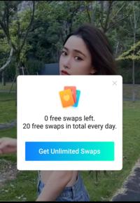 Face playってアプリなんですけど、この画像に出てる英文の意味って1日20枚までって意味で合ってますか?