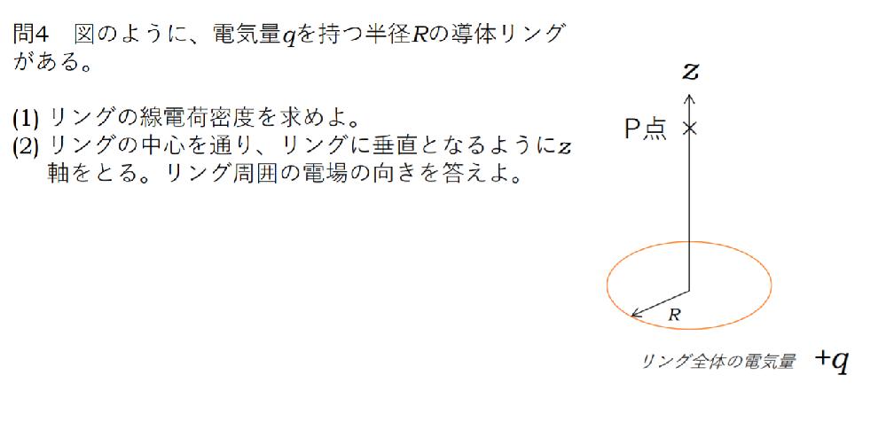 この問題が参考書を見たりしてもよく分かりません... どなたか解き方を教えていただけると幸いです。 電磁気の問題です。