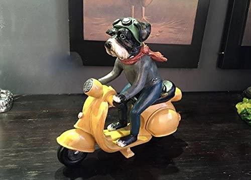 オートバイに乗ったシュナウザー犬の置物を売っている所を知りませんか?以前はAmazonで売っていたようなのですが、今は取り扱っていないみたいです。画像を添付しておきます。