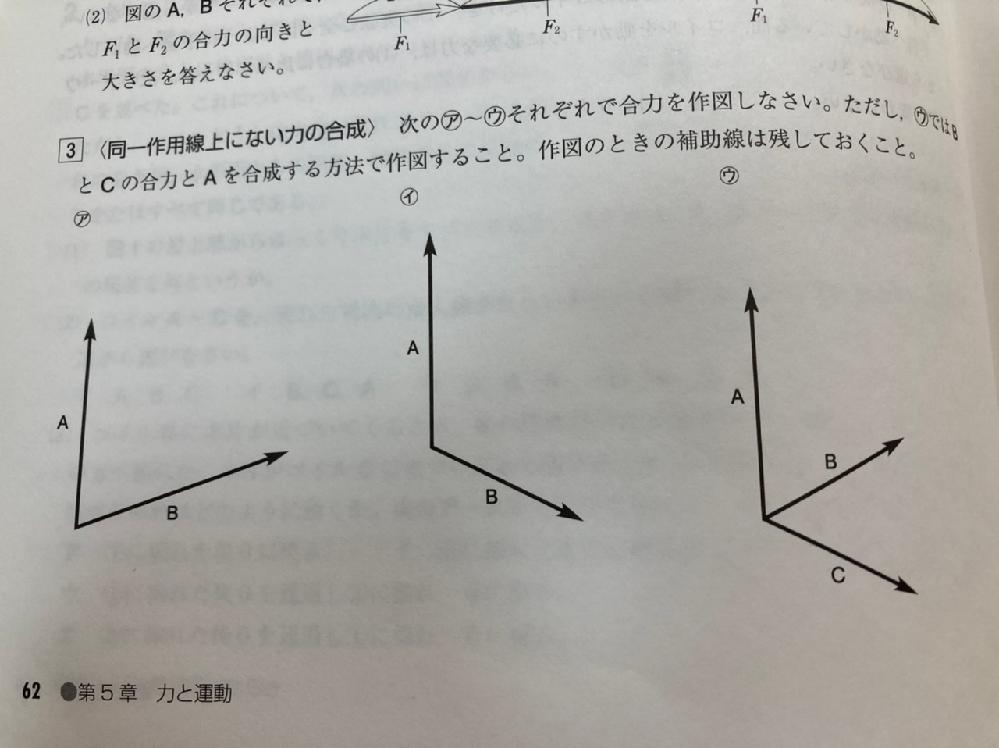 大至急お願いします。 中学の物理の力の合成の範囲なのですが、問題集で問題で合力を作図するとき、平行四辺形を作図すると思うのですが、マス目がないのにどうやって作図するんですか? テストでは作図用にマス目が用意されているものですか? 教えてください。