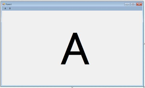 vb.netのWindowsフォームにて MenuStripで選択したものを切り替えて表示する方法はありませんか? Aをクリックしたならば、それに該当する内容をMenuStripの下に Bをクリックしたならば、Bに該当するものを下に表示ということがしたいのです ただ、文字を表示させたいだけではありません。 テキストボックスだったり、チェックボックスも含めた感じです