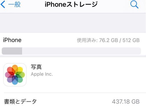 iPhoneの機種変更を検討しており、適した容量がわからないので質問です。 ○現在 iPhone Xs 512GB iCloud契約・自動バックアップ設定 今まで「とりあえず一番大きい容量」を購入していましたが、iPhoneストレージを確認すると76GBほどしか使用済みになっていないため小さい容量でもいいのかな?と思っています。 ただ、その下の写真データで440GB近く使用しているため、現在使用済みの容量が分からなくなってしまいました…。 動画が多いため、写真で440GB近く使用していても間違いではないです。 結局何GBのiPhone購入すれば良いのでしょうか?