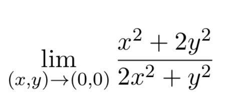 どなたか解答解説を大至急お願いします。 次の極限値を求めよ.極限値が存在しない場合は,それを証明せよ.
