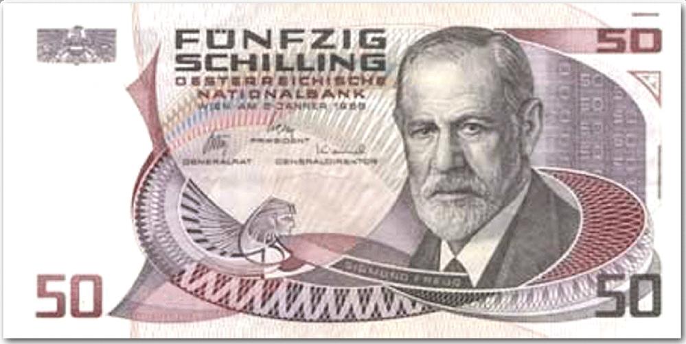 フロイトさんが顔のこのお札は、オーストリアのお金でしょうか? どこの国のお金でしょうか? いまも使われていますでしょうか? 何年から何年まで使われたいたのでしょうか? 日本円にしたら、いくらくらいのお札でしょうか? よろしくお願いします!