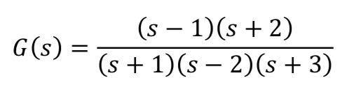 画像の伝達関数の極と零点を求めたいです。 途中経過も含めわかる方いらっしゃいましたらご教授下さい。