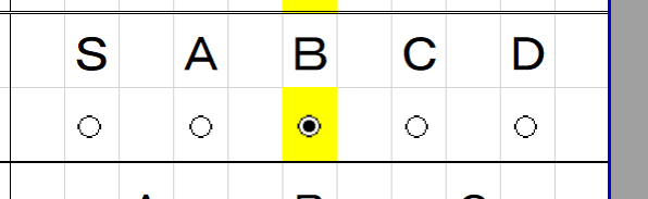 エクセルで教えて頂きたいのですが、 ラジオボタンが選択されましたら、 背景のセルの色が黄色になるようにしたいのですが、 設定すればよいでしょか。