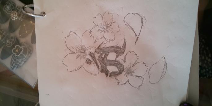 タトゥー 刺青について 詳しい方、経験者の方お聞かせください。 批判中傷はご遠慮ください。 来週、手の甲(親指付近)に桜と梵字のタトゥーを入れる事にしました。 初めて行くタトゥースタジオなのですが… LINEでイメージの絵柄を送りました。(元々、手の甲に火傷の跡があり、それをカバーするためです) 梵字を囲むようにピンクの桜が3つで、花びらを散らせたかったのですが、ご覧になった彫り師の先生から電話がありました。 「桜は二つにして、赤とピンクにした方が良いです。その方がバランスも取れます。これから絵を描きますが、必ず綺麗に仕上がりますので、安心してください」との事でした。 こういう事ってあるのでしょうか? 先生のセンスが良く、その方が綺麗で満足いけば問題ないのですが… 私は今まで、彫り師見習いの知り合いに彫ってもらって失敗してるので、その先生がうまければ、カバーアップも考えています。 電話で話した感じでは、結構ご年配の先生のようでした。 皆様のご意見お聞かせください。 ちなみに、これが下手ですが私が描いたイメージ画です。 ネットから拾って、自分の干支に合わせて描きました。 やはりバランス悪いでしょうか?