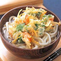 おはようございます かき揚げうどんと天ぷらうどん どちらが好きですか?