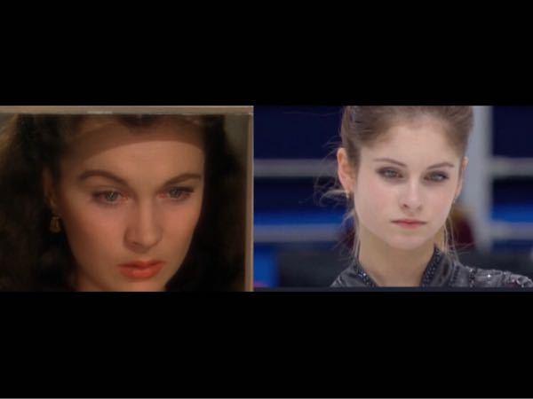 風と共に去りぬを見てて思ったのですがヴィヴィアン・リーさんと元フィギュアスケーターのユリア・リプニツカヤさんって顔立ち似ていませんか?