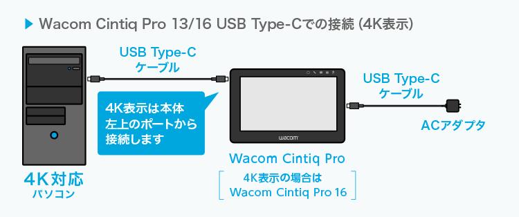 ワコムのペンタブレットの接続方法について質問です。 ワコム製ペンタブレットの購入を考えています。 サイトに接続例が書いてあったのですが、自分のパソコンにはUSBtypeAとDVIコネクタしかないようです。 画像のようにtypeC用の接続ポートがあれば一本だけで接続できるようなのですが、 例えばPCとケーブルの間にUSBタイプC→Aの変換コネクタのようなものを間に挟んで使うことはできないんでしょうか? そういったものは通販サイトで500円ほどで買えるようですがうまく読み込まなかったりする可能性も高いでしょうか?