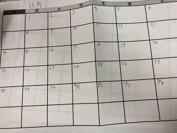 カレンダーて予定を書き込む時に こんな感じのカレンダーだと、 予定がわかりやすいのはなぜですか? 逆に日付が一列に縦になっているものは、 分かりにくい感じがします 予定がわかりやすいにくいというか。
