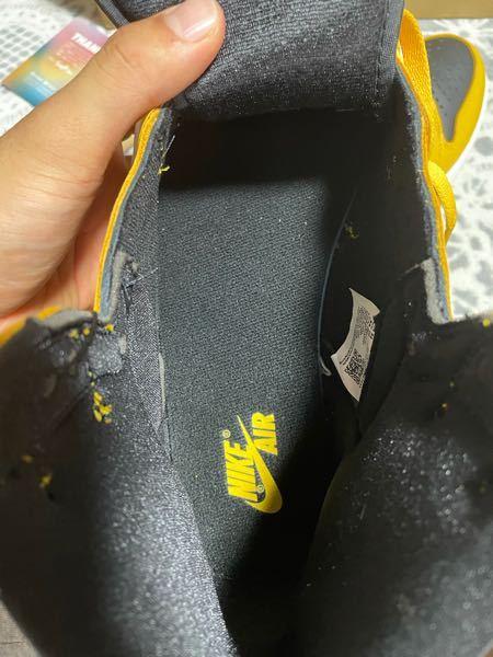 スニーカーダンクで購入したジョーダン1パランなのですが本物でもこのくらい裁縫は甘いものなのでしょうか?
