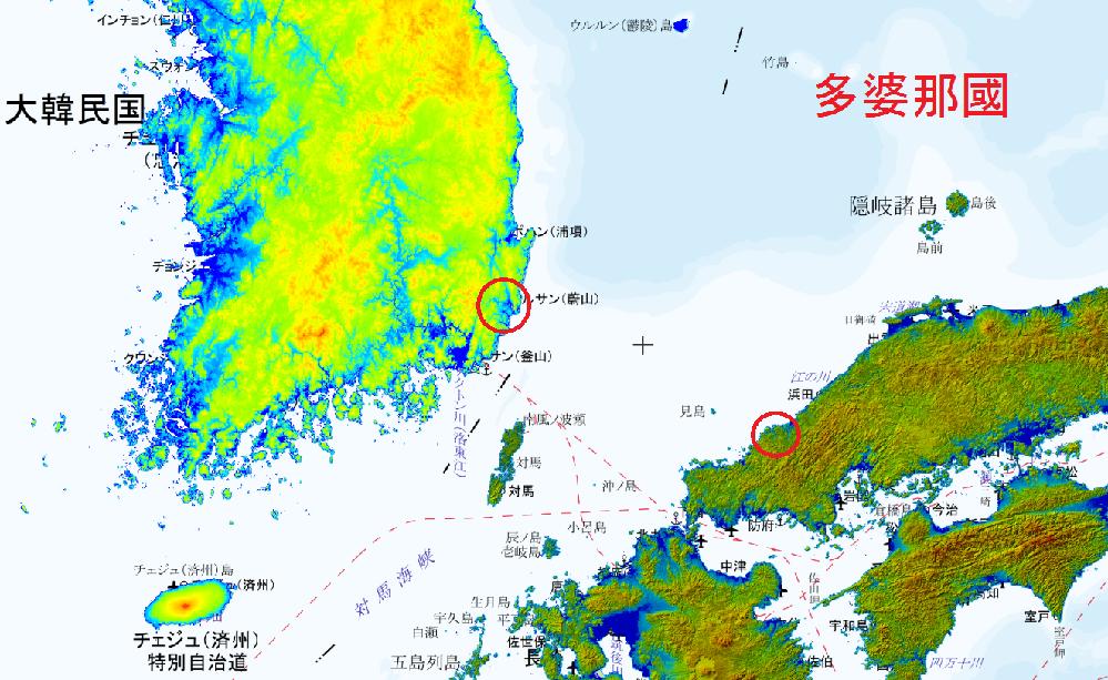 日本海の海流や気象に詳しい方にお伺いします。 萩市の東端になる田万(たま)川から、沈まない無人の小型の舟、又は筏を流したらしたとしたら、韓国の蔚山市地域の海岸に流れつくでしょうか? 邪馬台国の謎...