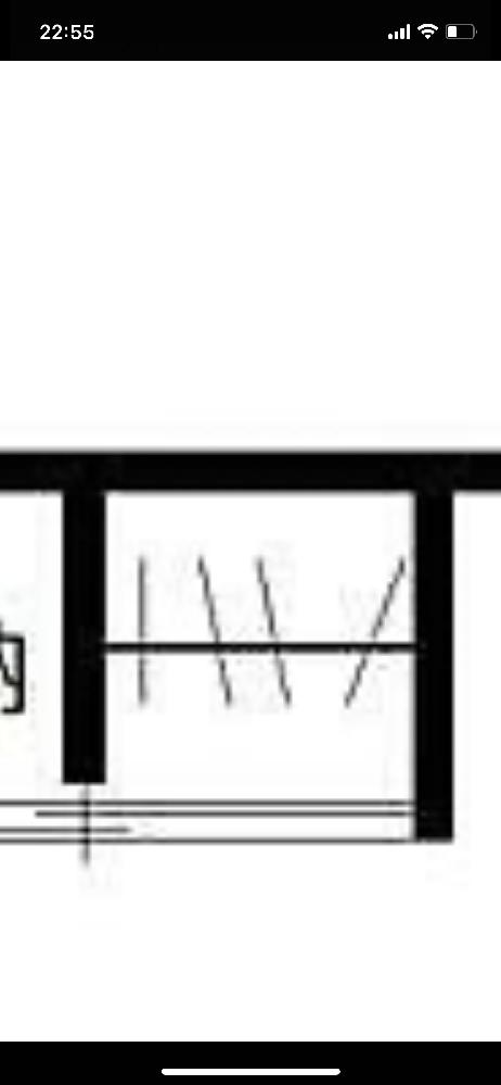 引越しを考えていていろいろ物件を見ているのですが、間取り図にあったこの記号はどういう意味ですか? 教えていただけると幸いです。