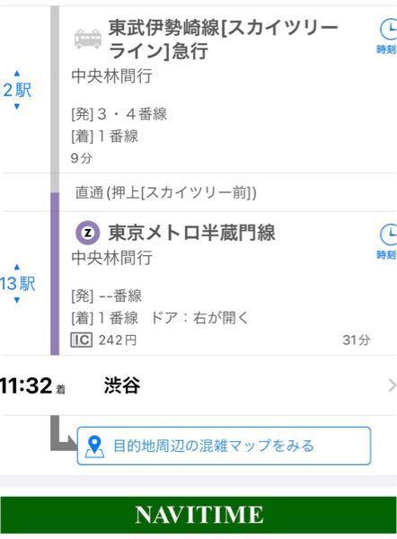 東武伊勢崎線に乗れば乗り換え無しで渋谷につく、ということであってますか?