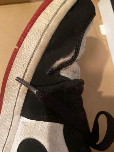この靴の破れのようなものは治すことは可能ですか?この靴はナイキのエアジョーダン1lowでゼビオで買いました