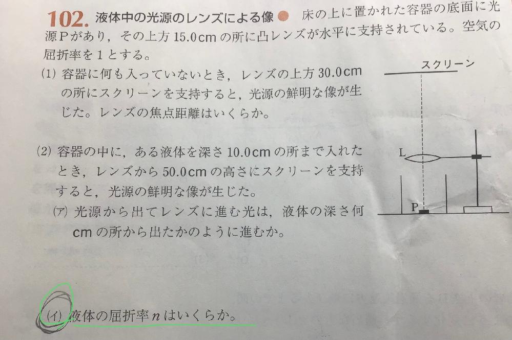 高校物理、波動の質問です。 (イ)の解き方と途中式を教えてください。よろしくお願いします。