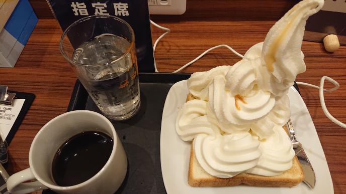 こんな朝モーニングはどうですか?太りますか?痩せられますか?冷たすぎて、コーヒーを飲み過ぎてしまいました。