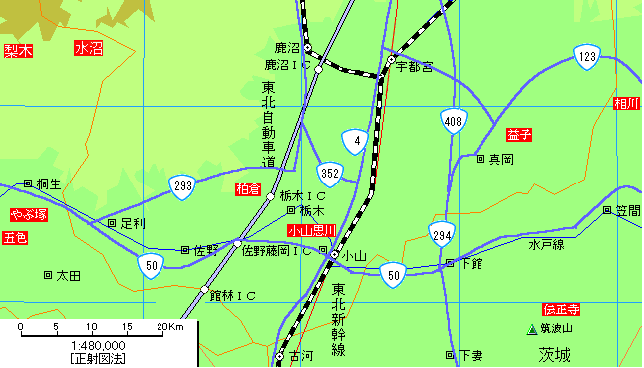 東北自動車道の佐野藤岡IC~栃木IC間は何故カーブが多いのですか?