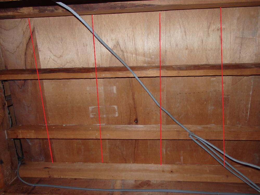 二階の板の間のつなぎ目のところが沈みます。 下から補強する方法はあるでしょうか。 よろしくお願いします。