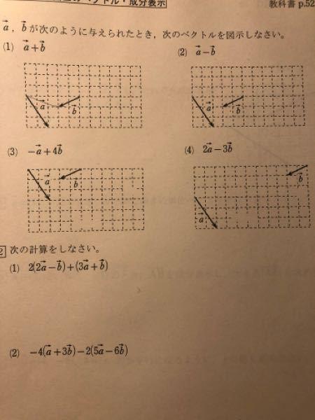 数B ベクトル 図示 教科書の解答が無いのでどんなかんじなのか分からなくて困ってます。。 図示だけ教えてください。