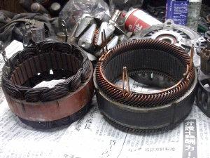 【オルタネーターやモーター類】実験で、ステーターコイルの銅線を試しに外してみようと思いましたがかなりの難です。 銅線が細いと、直ぐに切れます。 良い方法は、有りますか?