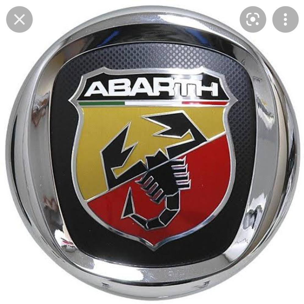 フィアットにアバルトロゴエンブレムを入れる ではなく アバルトにフィアットロゴを入れたいのですが、そのような商品ご存知の方いらっしゃいますか?
