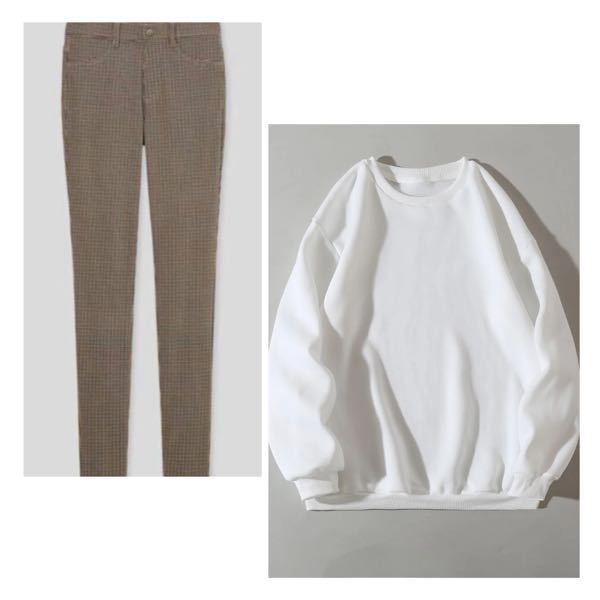 この茶色のズボンに白のトレーナーって合いますかね?