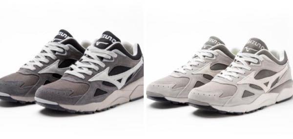 黒白以外のスニーカーを購入してみたいのですが、汎用性が高いのは左右どちらのグレーでしょうか。 ちなみに僕は、比較的色落ちしていないデニムを良く履きます。