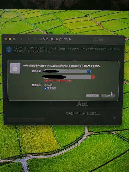 至急お願いします。下の写真のようにMacBookProのAppleID作成の画面なのですが本人確認の電話番号とはなんの番号を入力したら良いでしょうか?