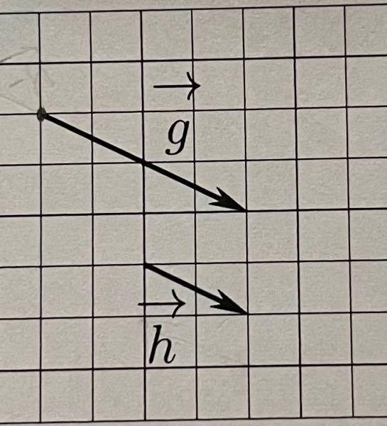 ベクトルの減法でベクトルg-ベクトルhを図示しなさいという問題なのですが、この場合gの矢印とhの矢印が向き合う感じで書けばいいのですか?