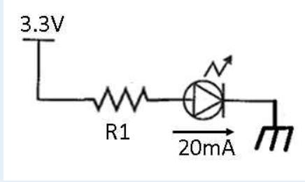以下の図のLEDの回路において,抵抗R1は【a】Ωである.【a】内に相応しいものは?という問題です。 回答お願いします。