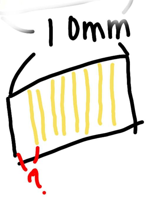 高校物理 物理の明線の間隔の長さ求めるとき明線の太さ分からないと分からないのではないのですか?10mmあたり8本だったら 間隔は8/10mm となってますけど、それがなぜ間隔の長さになるのですか?