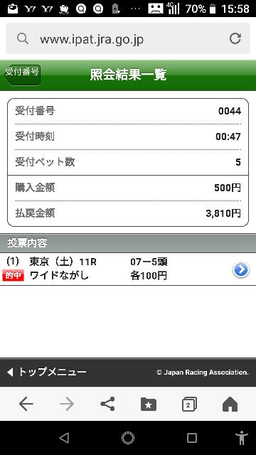 東京最終 8―6.15.16 なにかいますか?