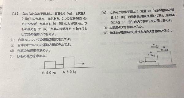 【チップ100枚】物理基礎。得意な方助けてください! 問題出されたのですが全然わかりません。やり方教えて下さい。
