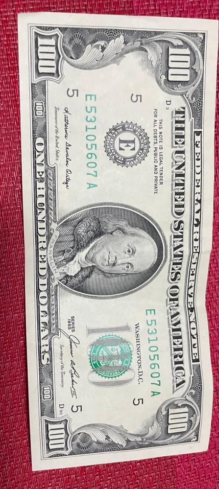 この100ドルって本物ですか? 使えますか?