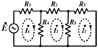 この電気回路の問題を教えて下さい。 図の回路において、次の問に答えよ。 ① 3つの閉路について閉路方程式を立てよ。 ② 求めた閉路方程式より閉路行列を示せ。
