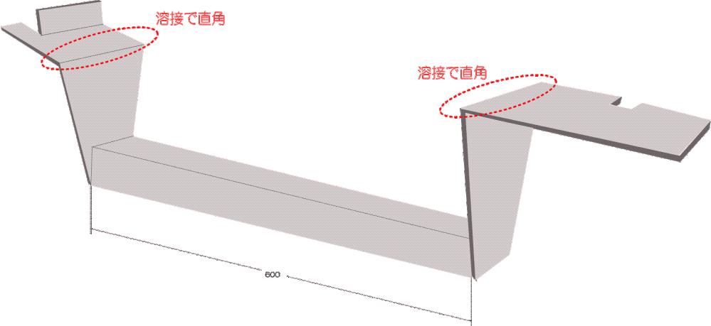 板金加工屋さんにお願いして、ヒッチメンバーを作ってもらう予定です。 ①6mm厚の鉄板を使用して曲げ加工で作ってもらう ②9mm厚の鉄板を使用して直角部分は溶接で作ってもらう。 (9mm厚の鉄板は...