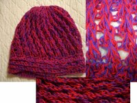 実家の押入れを整理していたら、ニット帽がでてきました。編み方がかわいかったので、自分で編みたいと思いますが、どうなっているのかわかりません。編み方、または編み方の名前、どなたかわかりますか? かぎ針...