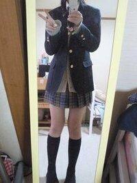 私の制服、似合ってますか?