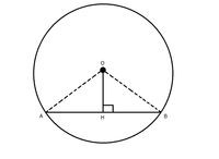 次の数学の証明問題の解き方を教えてください。答えも。 下の図のように、円の中心Oから弦ABへ垂線をひき、その交点をHとします。このとき、次の問いに答えなさい。 三角形OAH≡三角形OBHであることを証明しなさい。