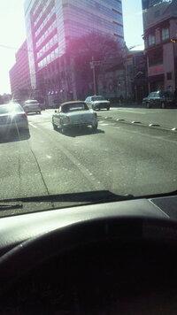 こちらの車はなんでしょうか??  エンブレムはアルファロメオでした☆ 外苑西通りにて。。。