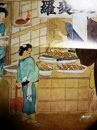 江戸時代の屋台で、主に好んで食されていた料理を教えてください。