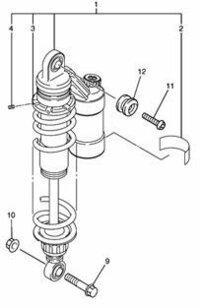 XJR1300のリアサス盗難防止に「キタコ ボディガード」をつける場合は・・・ 上のボルトにはフックがついているので、下側のボルトを単純に変えるだけでよいのでしょうか? (気休め程度の対策と承知しており...