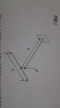 材料力学の問題について教えて下さい   たわみの問題です 図のように片持ちはりの先端と両端支持はりの中央が剛体棒で連結されている。この状態 で片持ちはりの先端に下向きに荷重Pを作用させるとその力は剛体棒...