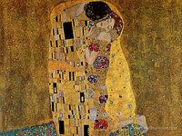 <クラシック音楽と名画シリーズその27> クリムトの「接吻」です。 この絢爛豪華かつ妖しげな絵画から、どんな音楽が聞こえてきますか。