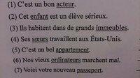 この画像のとおりです。フランス語で、 下線部の名詞を複数系のものは単数形に、単数形のものは複数系に、全文を訂正お願いします!!