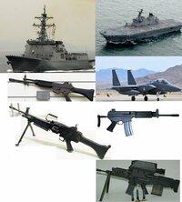 下の写真の韓国軍の武器について詳しく教えてくませんか? ◎性能。自衛隊とか他国の軍隊と比較していただけると分かりやすいのでお願いします。 ●艦船・竹島級揚陸艦(韓国名:独島)・イージス艦(韓国名:世宗...
