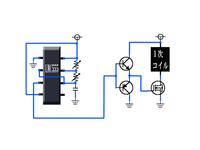 回答ありがとうございます!ブレッドボードの件は理解しました。この回路図の極性を教えて下さいm(__)m右側が何極で左が~と。
